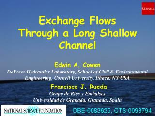 Exchange Flows Through a Long Shallow Channel
