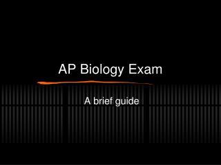 AP Biology Exam