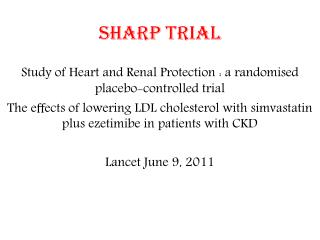 SHARP trial