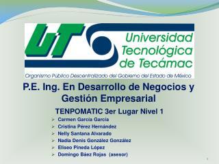 P.E. Ing. En Desarrollo de Negocios y Gestión Empresarial