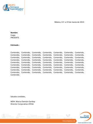 México, D.F. a 19 de marzo de 2013