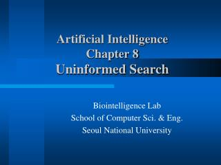 Biointelligence Lab School of Computer Sci. & Eng. Seoul National University