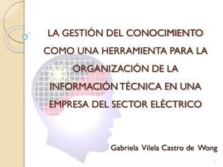 Gabriela  Vilela Castro de  Wong