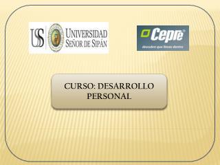 CURSO: DESARROLLO PERSONAL