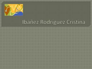 Ibáñez Rodríguez Cristina