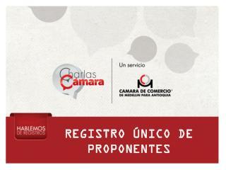 REGISTRO ÚNICO DE PROPONENTES