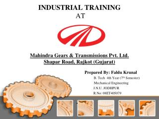 INDUSTRIAL TRAINING  AT