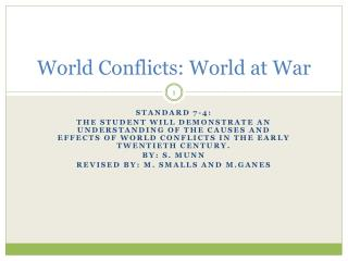 World Conflicts: World at War