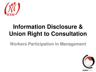 Information Disclosure & Union Right to Consultation