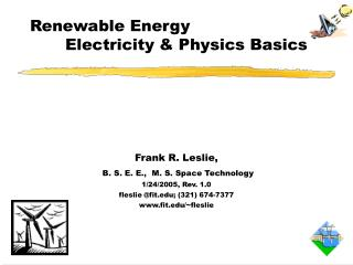 Renewable Energy 	Electricity & Physics Basics