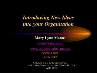 Introducing New Ideas into your Organization
