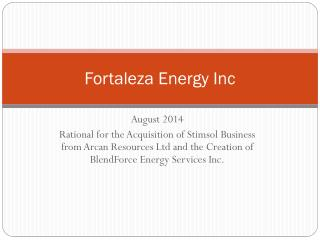 Fortaleza Energy Inc