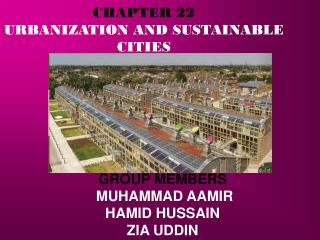 CHAPTER 22 URBANIZATION AND SUSTAINABLE CITIES