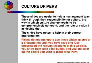 CULTURE DRIVERS