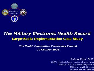 The Military Electronic Health Record
