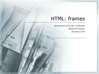 HTML: frames