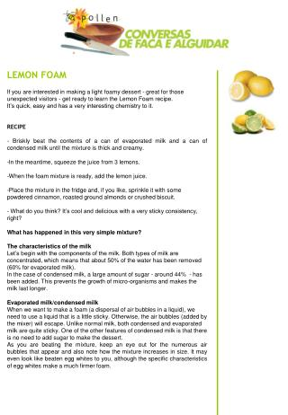LEMON FOAM