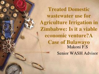 Makoni F.S Senior WASH Advisor