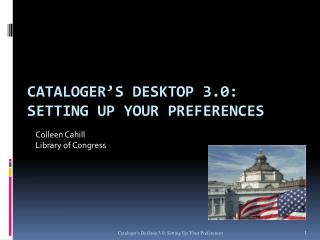 Cataloger's Desktop 3.0:  Setting up your Preferences