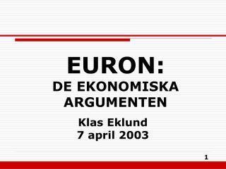 Klas Eklund 7 april 2003