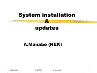 System installation  &   updates