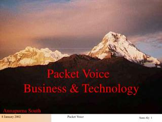 Packet Voice Business & Technology