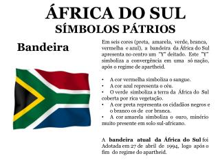 ÁFRICA DO SUL SÍMBOLOS  PÁTRIOS