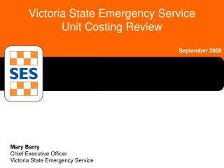 Victoria State Emergency Service Unit Costing Review