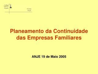 Planeamento da Continuidade das Empresas Familiares
