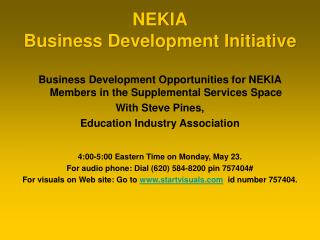 NEKIA Business Development Initiative