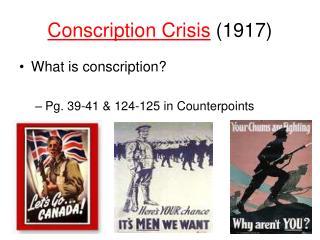Conscription Crisis (1917)