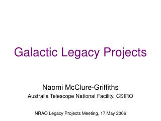 Galactic Legacy Projects