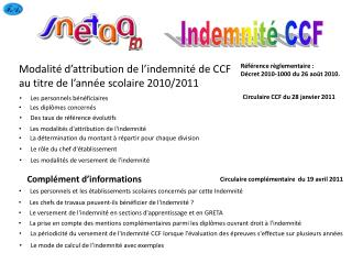 Indemnité CCF