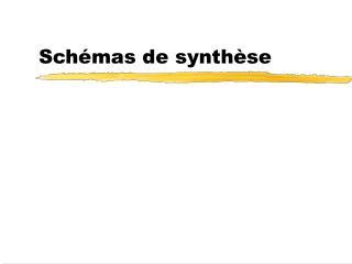 Sch�mas de synth�se