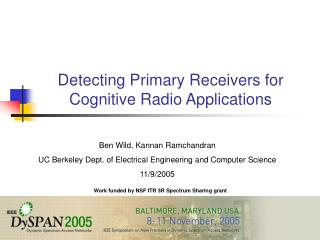 Detecting Primary Receivers for Cognitive Radio Applications