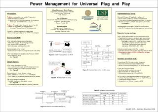 Power  Management  for  Universal  Plug  and  Play
