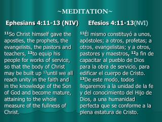 ~MEDITATION~
