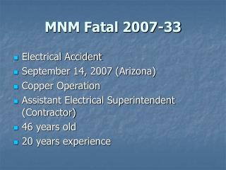 MNM Fatal 2007-33