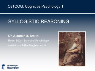 C81COG: Cognitive Psychology 1