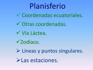 Planisferio