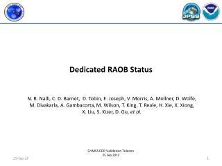 Dedicated RAOB Status