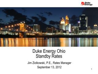 Duke Energy Ohio Standby Rates