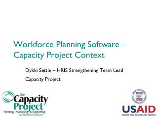 Workforce Planning Software – Capacity Project Context