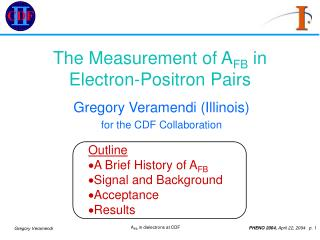 The Measurement of AFB in Electron-Positron Pairs