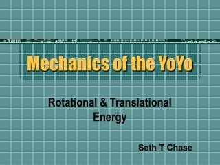 Mechanics of the YoYo