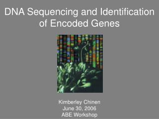 DNA Sequencing and Identification of Encoded Genes