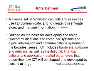 ICTs Defined