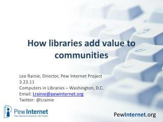 How libraries add value to communities