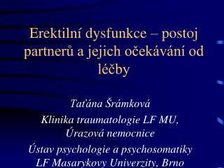 Erektilní dysfunkce – postoj partnerů a jejich očekávání od léčby