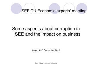 SEE TU Economic experts' meeting